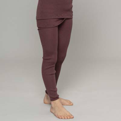 Leggings aus Wolle Arona raisin