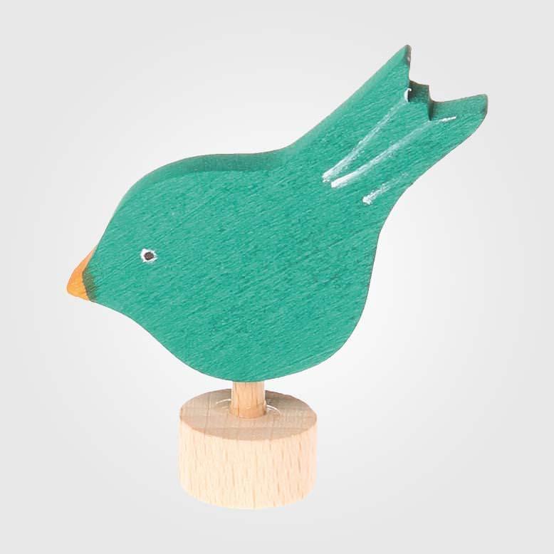 Figurenstecker Vogel pickend