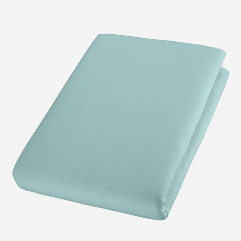 cotonea jersey bio baumwolle spann bett laken tuch spannbettlaken tuerkis atlantik blau