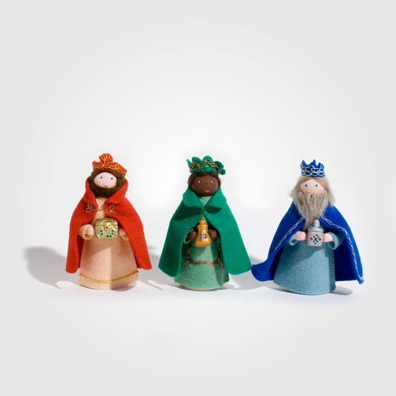 Filzpüppchen Heilige Drei Könige