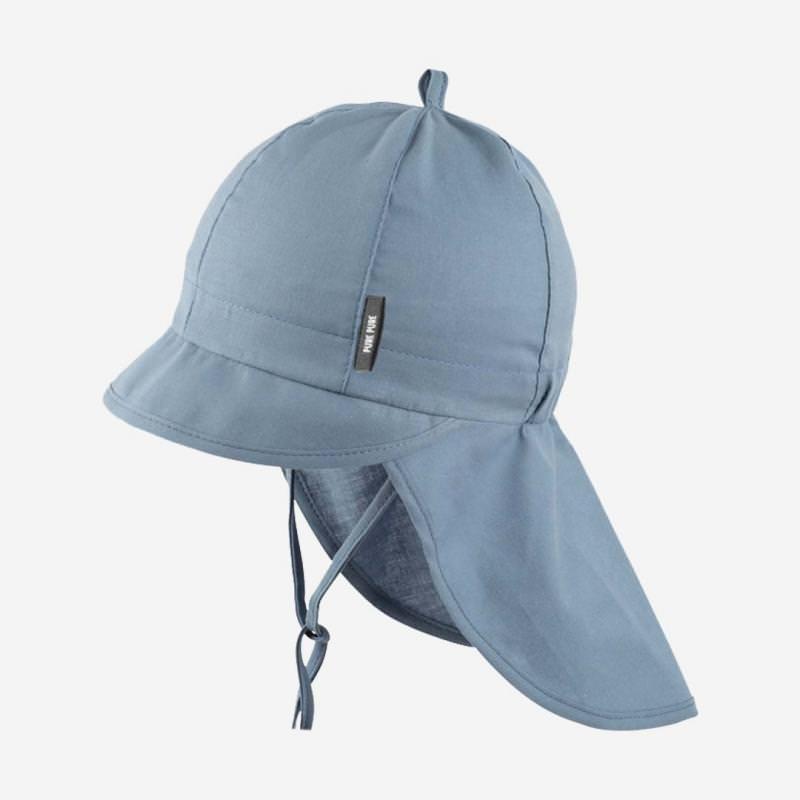 Schirmmütze mit Nackenschutz taubenblau
