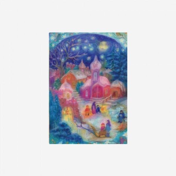 adventskalender die weihnacht der kinder lila l mmchen. Black Bedroom Furniture Sets. Home Design Ideas