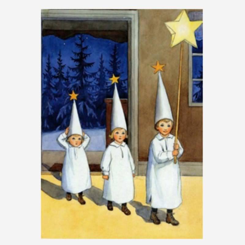 Postkarte Die Sternsinger
