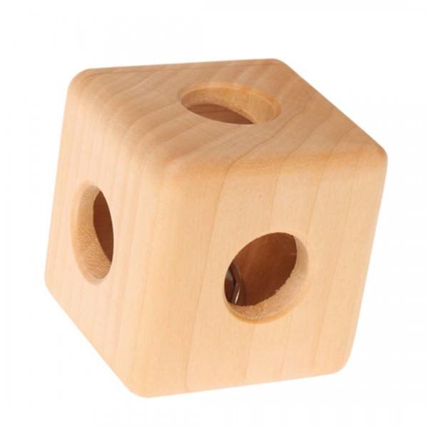 Holz Rassel Würfel mit Glocke