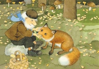 Postkarte Fuchs