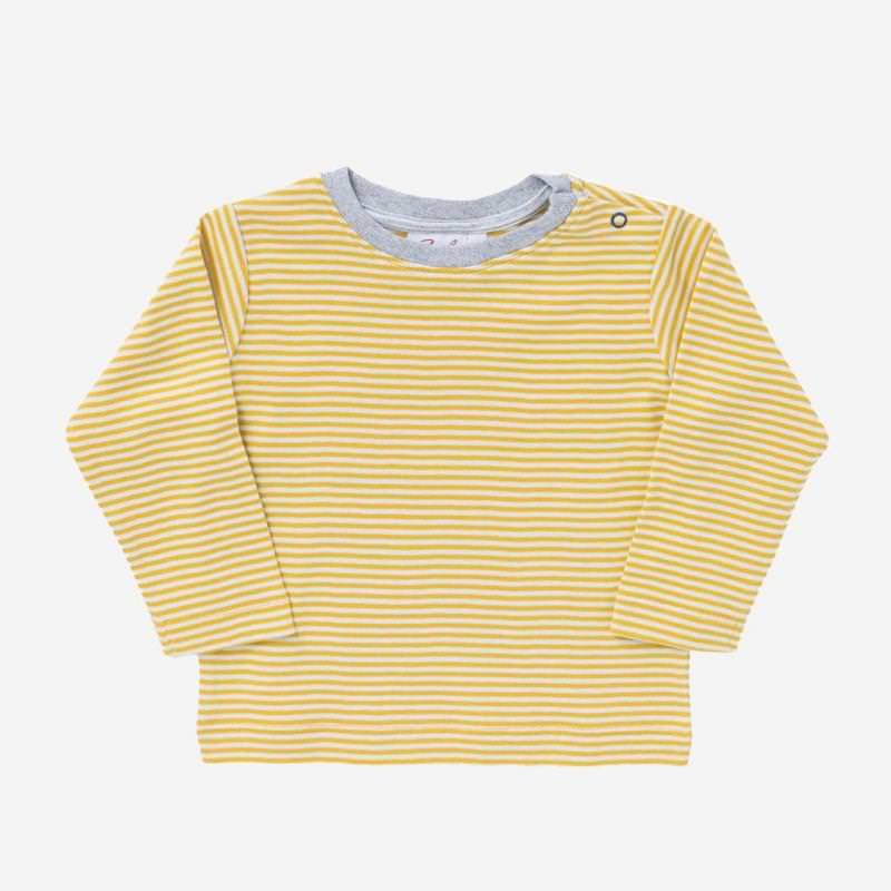 Shirt senfgelb Ringel