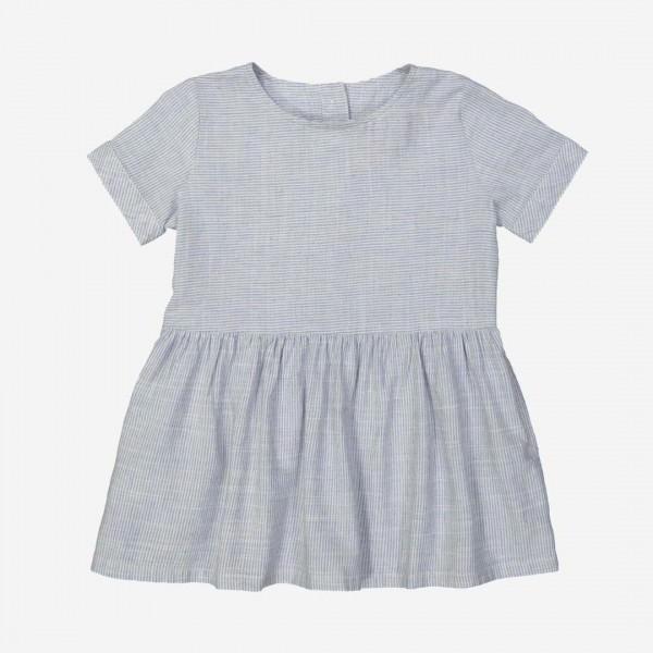 Kleid YOKOHAMA Leinen-Baumwolle bleu