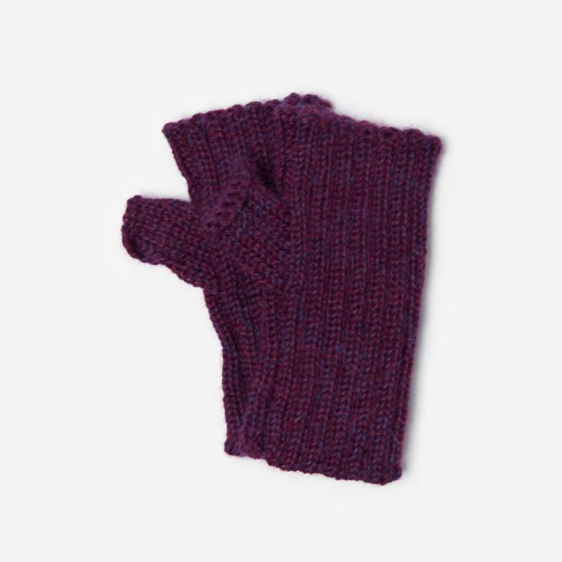 Kinder-Handstulpe Alpaka lila meliert