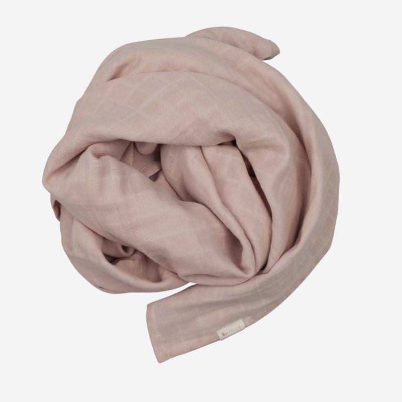 Swaddle Musselin Tuch groß mauve
