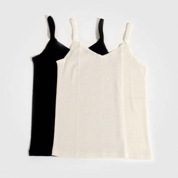 Trägerhemd Wolle/Seide