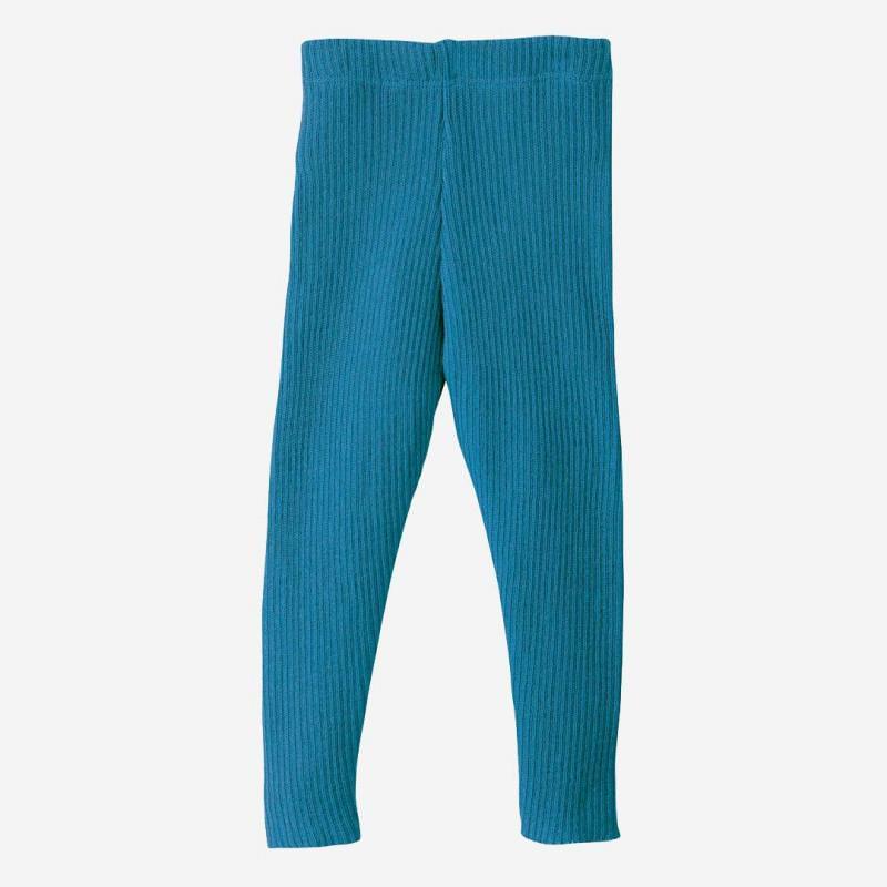 Strick Leggings Wolle blau