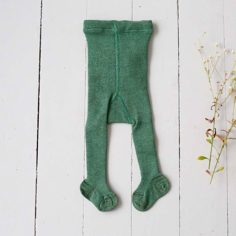 Strumpfhose Wolle dusty green