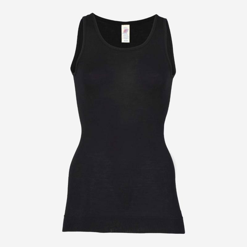 Damen Longshirt Achselhemd schwarz