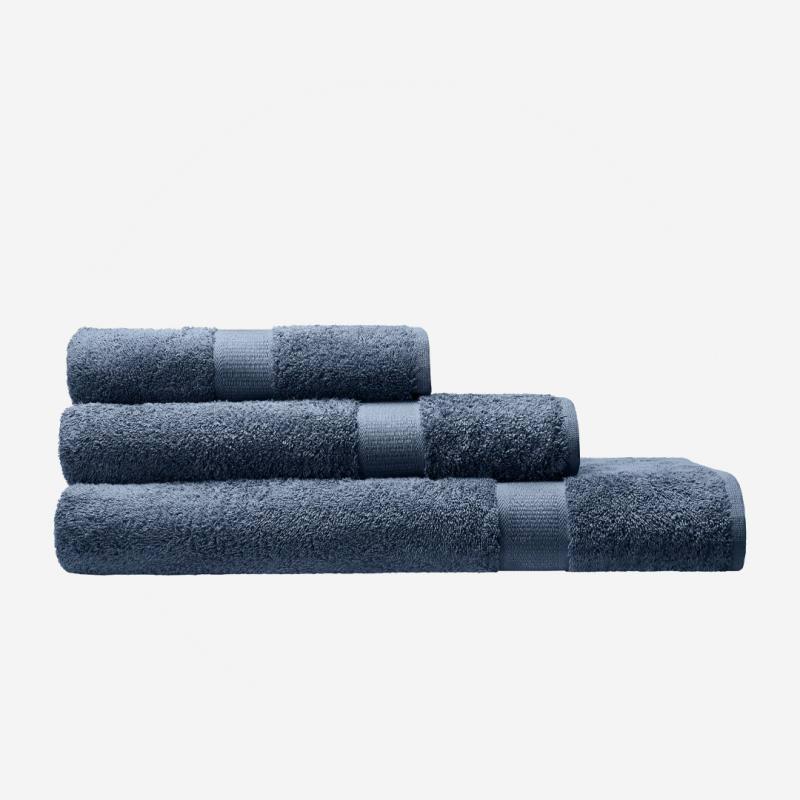 cotonea frottier frottee handtuch steinblau petrol graublau bio baumwolle