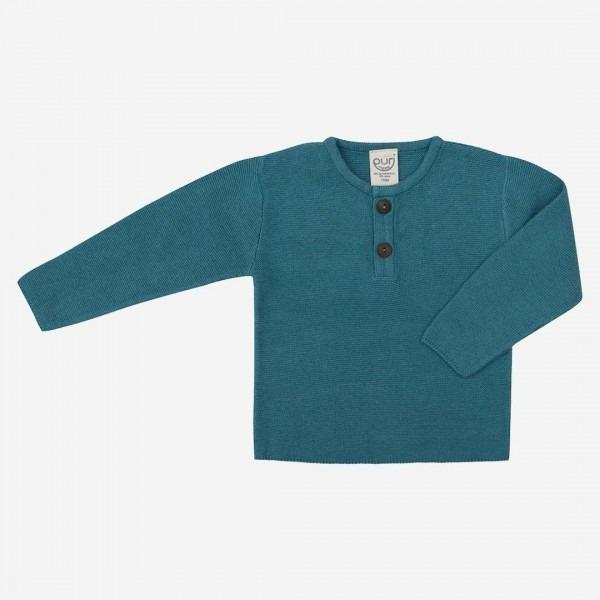 Pullover Henley Baumwolle/Leinen britanny blue