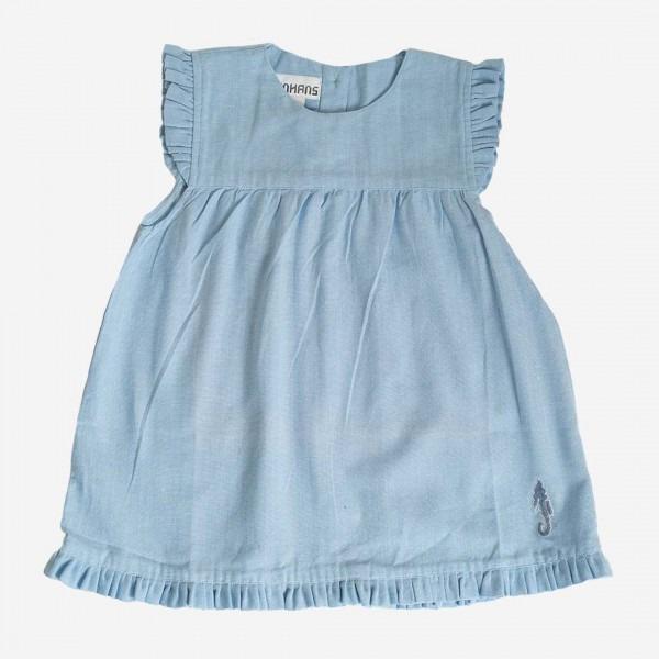Sommerkleid mit Flügelarm hellblau