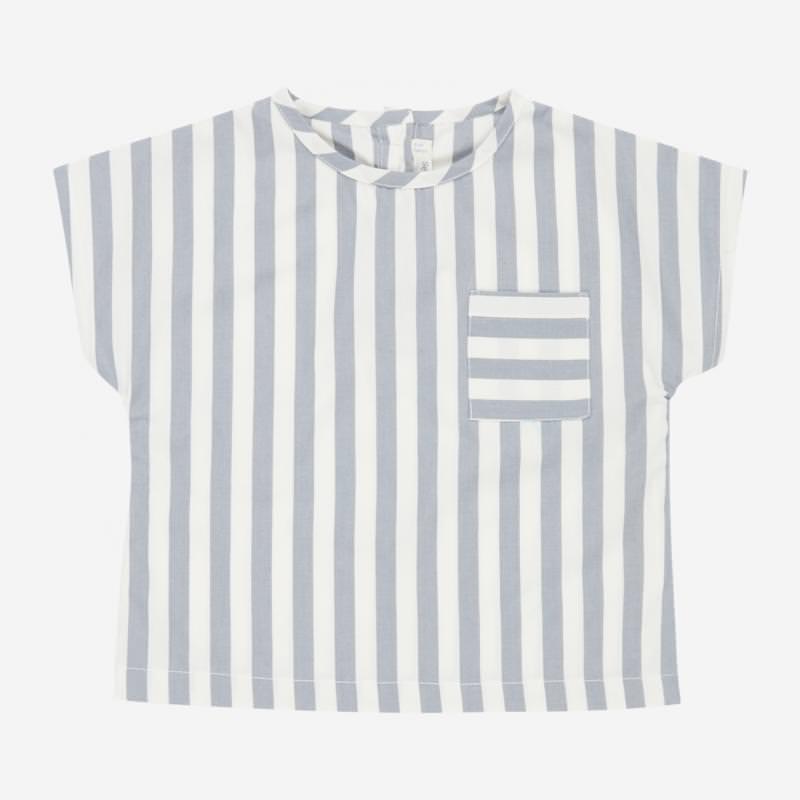 Bluse LIDDY dusty blue stripes