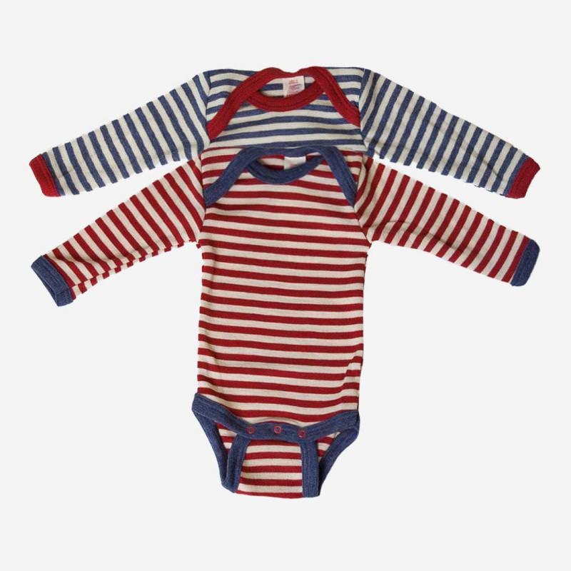 Baby Body Streifen Wolle
