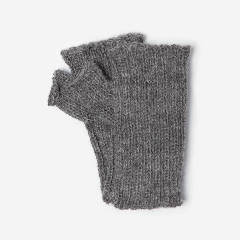 Kinder-Handstulpe Alpaka grau meliert