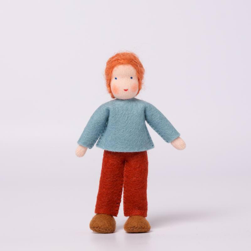 Puppenstuben Junge rotes Haar