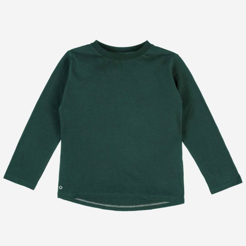 Long Sleeve Baumwolle forest green