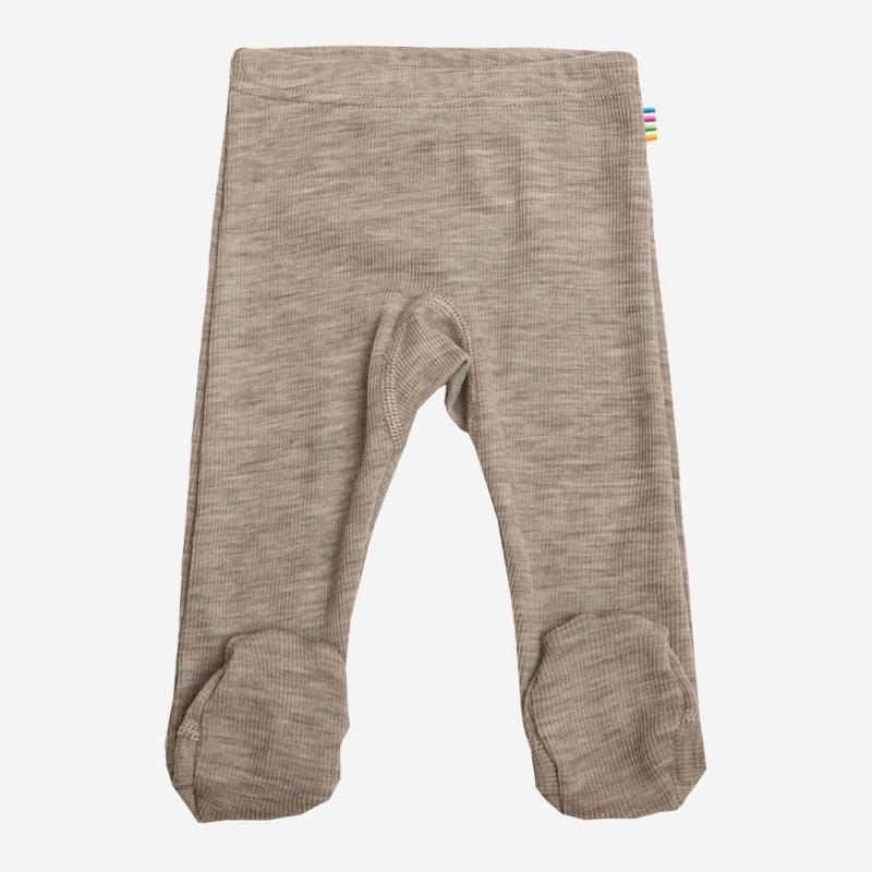 Babyhose mit Fuß Wolle/Seide beige melange
