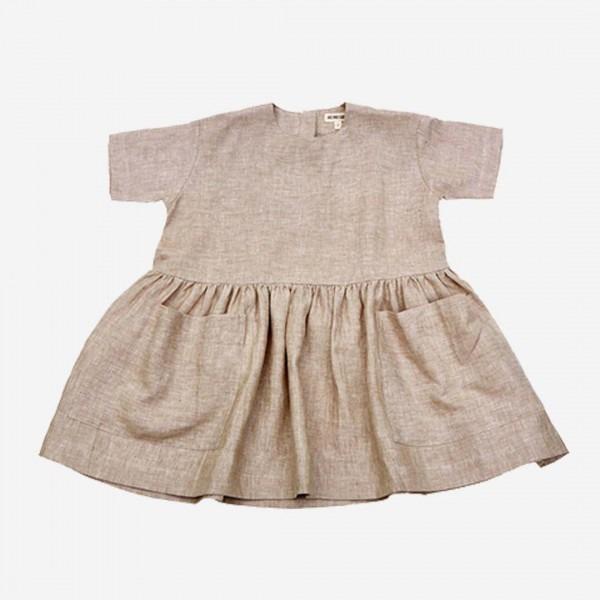 Pocket Dress Leinen beige