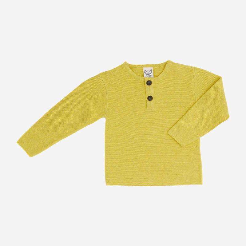 Pullover Henley Baumwolle/Leinen lime