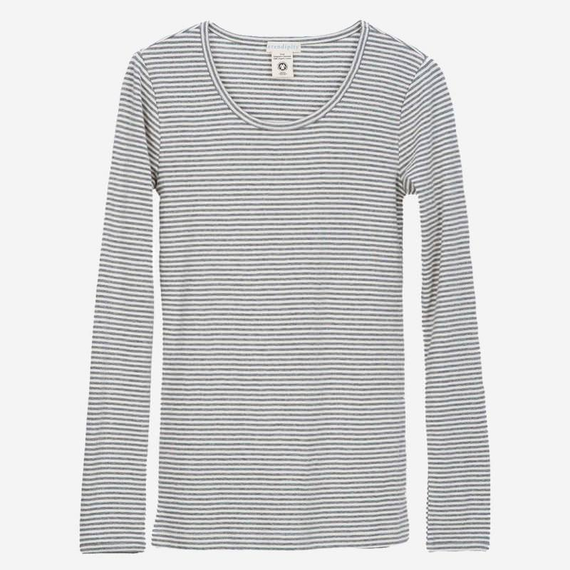 Slim Shirt Stripe grey-offwhite