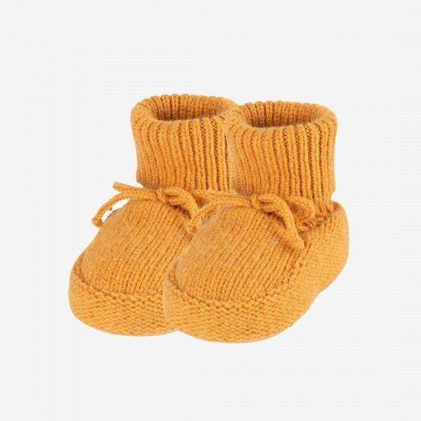 Baby-Schühchen Alpaka-Merino amber gelb
