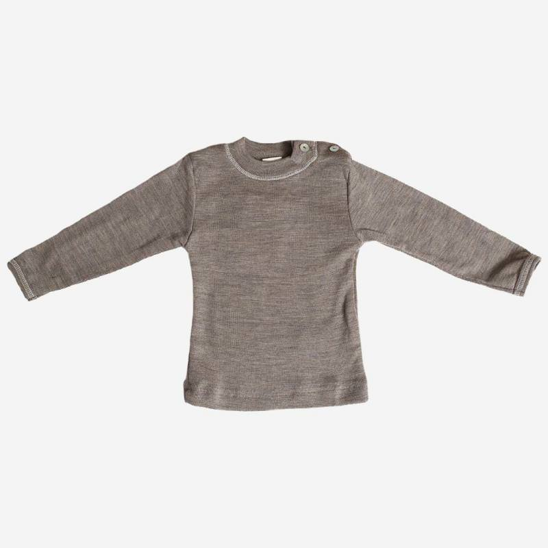 Baby-Shirt walnuss Wolle/Seide