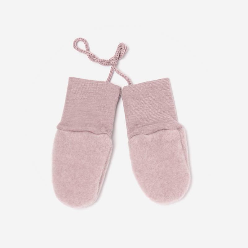 Baby Handschuhe Wollfleece von Engel in rosenholz