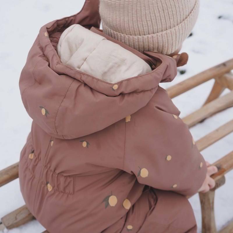 Kinder Schneeanzug Nohr lemon brown