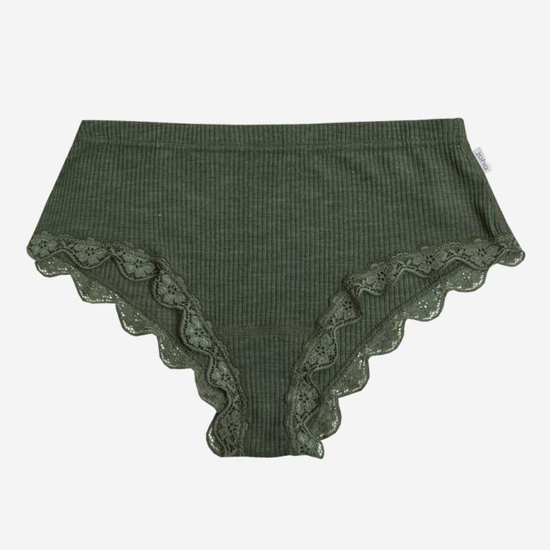 Damen Unterhose Wolle/Seide olivgrün