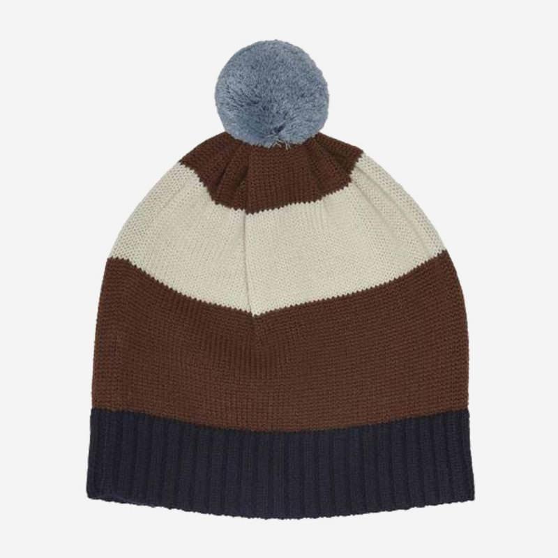 Mütze Pompom Wolle