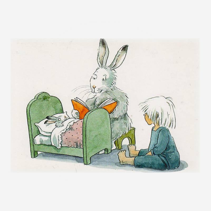 Postkarte Kind mit Hase von Lena Andersson