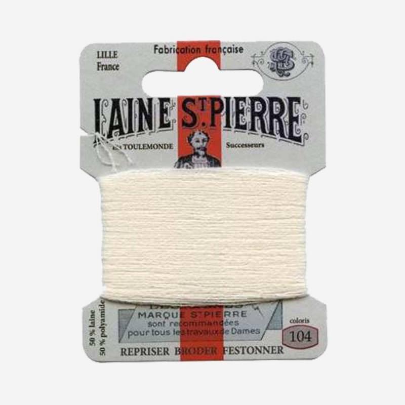 Stopfgarn von Laine Saint-Pierre in wollweiß Farbnummer 104