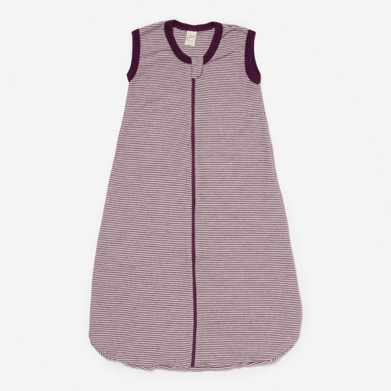 Schlafsack ohne Arm Wolle/Seide Ringel beere