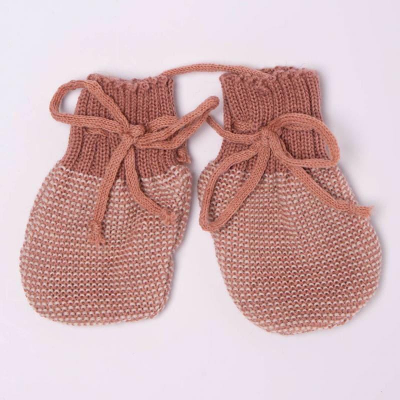 Baby Handschuhe von Disana aus Wolle in rose-natur