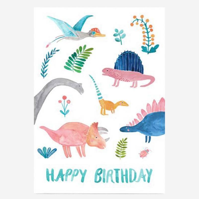 "Postkarte ""Happy Birthday"" (Dinos)"