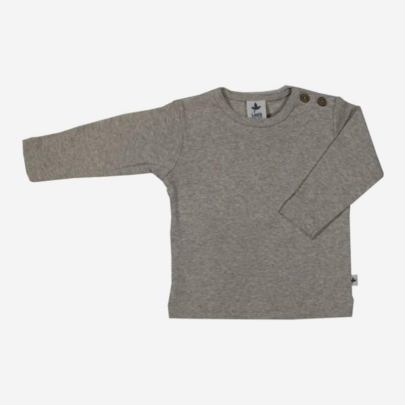 Kinder Shirt von Leela Cotton aus Bio-Baumwolle in grau