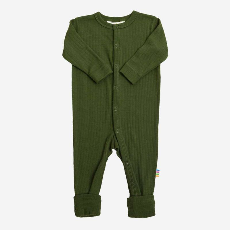 Schlafanzug Merinowolle flaschengrün