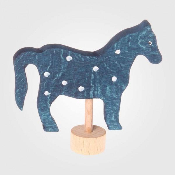 Figurenstecker Pferd, blau