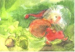 Postkarte Juppeida-Zwerg