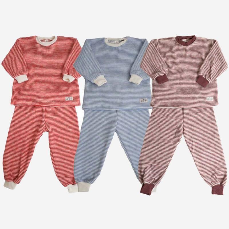 Schlafanzug Wollfrotte-Plüsch