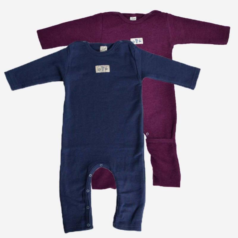 Anzug mit Beinumschlag Uni Wolle/Seide