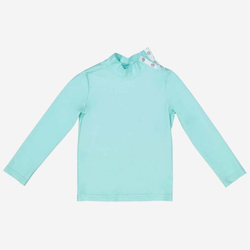 Bade-Shirt Turbot aqua