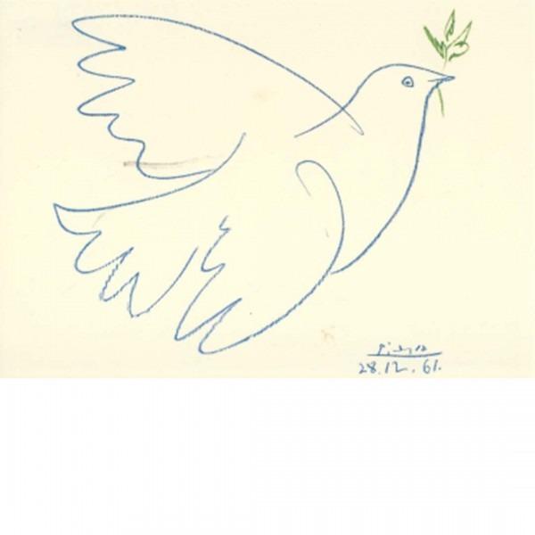 Postkarte Colombe bleue