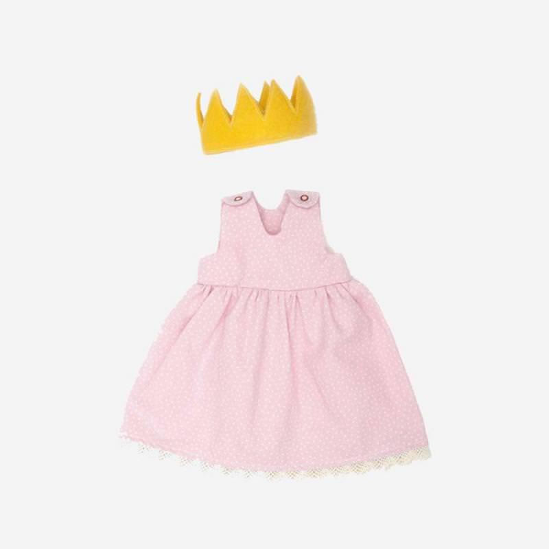 Puppen-Bekleidung Prinzessin rosa