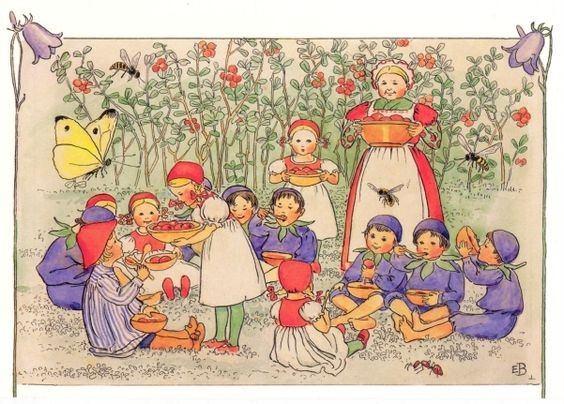 Postkarte Lasse im Blaubeerwald